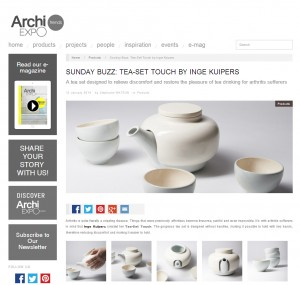 Archi expo tea-set Touch